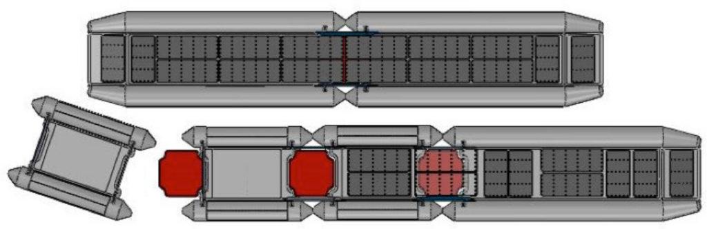 ILC-1000 bridge building visualisation