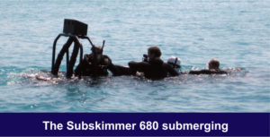 The MST Subskimmer 680 submerging