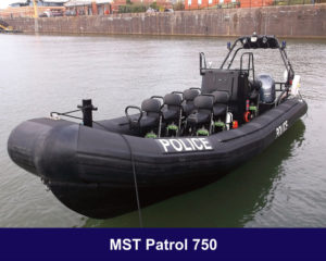 MST-Patrol-750 on exhibition at Seawork 2019