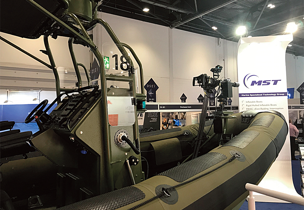 The MST FRISC-1200-SF at DSEI London