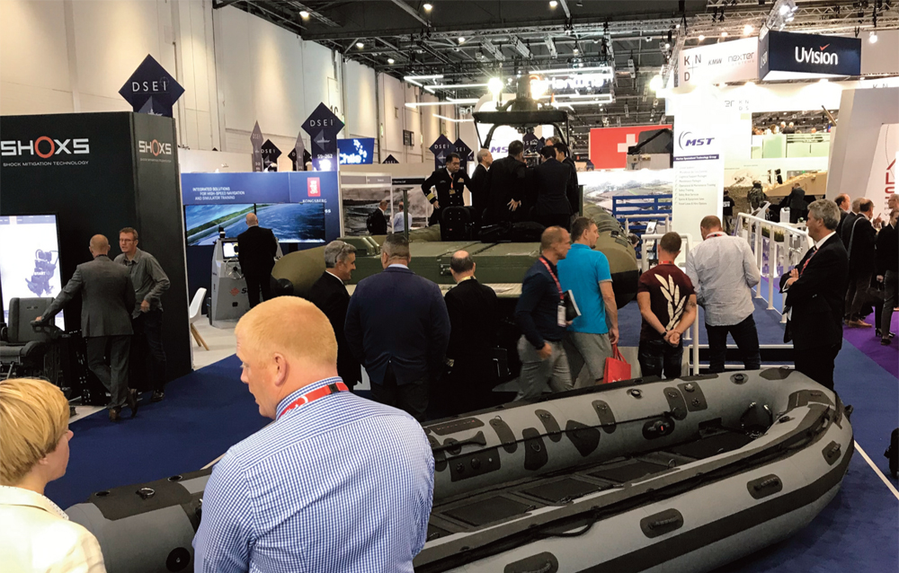 The MST stand at DSEI Excel London